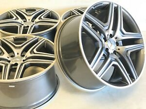 20 Mercedes Cls S550 G Wagon Amg Replica 463 Wheels Staggered Gray And Machine
