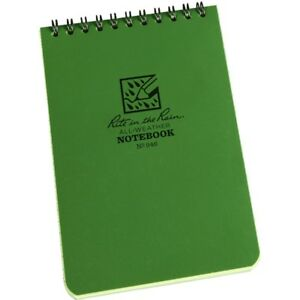 Rite In The Rain 946 All weather Universal Spiral Notebook Green 4 X 6