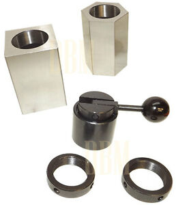 5c Collet Fixture Block Chuck Hex Square Closer Rings Milling Lathe Mill Grinder