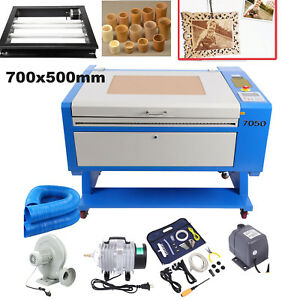 High Precise 80w Co2 Usb Laser Cutter Engraving Cutting Machine Rotary Axis