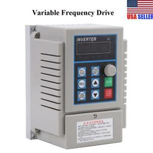 Ac 220v 0 75kw Variable Frequency Drive Vfd Speed Single Phrase 3ph Out Inverter