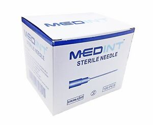 Needles Hypodermic 20g X 1 Needle Discount Box Of 1000 Medint Sterile