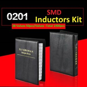 0201 Smd smt Lqp Components Samples Book Inductors Assorted Kit 38 Values