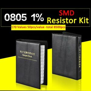 8500pcs 0805 Smd smt 1 Resistor Samples Book Assorted Kit Component 170 Values