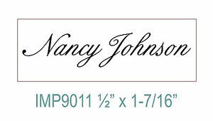 Personalized Custom 1 Line Designer your Name Self Inking Rubber Stamp
