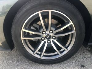 2018 Ford Mustang Gt 18 Wheels Oem Factory Machined Gray Rims