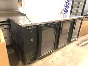 True Tbb 4g 90 3 Glass Door Bottle Cooler Used Refrigerator