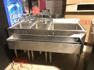 Bk Resourcers Under Bar Bar Sink Stainless Commercial Used Bar Sinks Combo