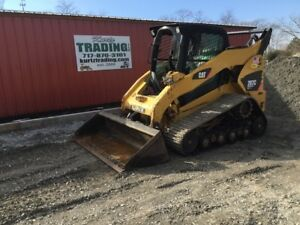 2010 Caterpillar 287c Compact Track Skid Steer Loader W Cab 2 Speed High Flow