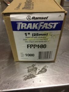 Ramset 109 Dia X 1 Length X 0 250 Head Plated Trackfast Pin Pack Fpp100