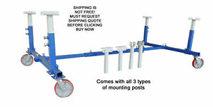 New Universal Adjustable Deluxe Auto Body Cart Dolly Stand 3 000 Lbs Capacity