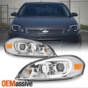 Fits 2006 2013 Chevy Impala Light Bar Projector Front Lamps Headlights Pair