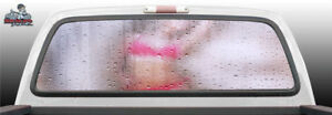 Sexy Nude Water Glass Woman Naked Rear Window Graphic Decal Suv Truck Car Perf