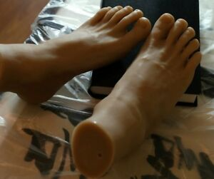 New Lifesize Realistic Silicone Foot Mannequin Fetish 1 Pair Jewelry Display 26