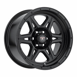 17x9 Level 8 Strike 6 Matte Black Wheels 6x5 5 12mm Set Of 4