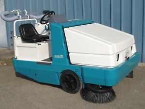 Tennant 355 Ride on Sweeper Gas Powered With Blower Attachment