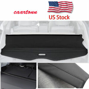 For 2008 2013 Toyota Highlander Manual Cargo Cover Security Rear Trunk Shade Blk