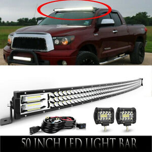 52inch 300w Curved Led Light Bar Roof Mount For 2nd Gen Dodge Ram 1994 2001 1500