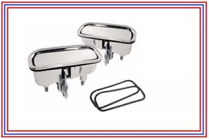 Corvette Outside Door Handles With Gaskets Pair Premium Quality New 1969 1982
