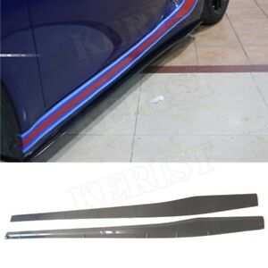 Carbon Fiber Side Skirt Bumper Splitter Apron For Porsche 981 2013 2015