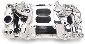 Edelbrock 75614 Endurashine Aluminum Intake Perf Rpm Air Gap Bbc Oval