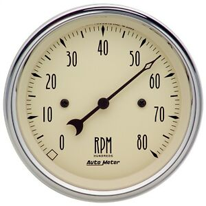 Autometer 1890 Antique Beige Electric Tachometer