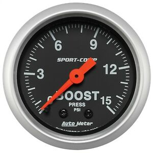 Autometer 3302 Sport comp Mechanical Boost Gauge
