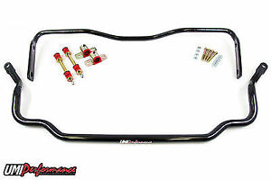 Umi Performance 1978 1988 Gm G Body Solid Front Rear Sway Bar Kit Black