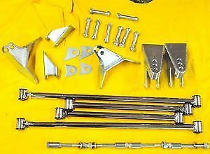 1932 Ford Triangulated 4 Link 32 Stainless Steel Four Bar Kit Street Rod
