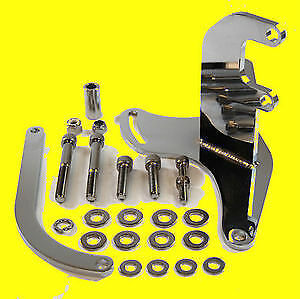 Sbc Small Block Chevy Alternator Upward High Mounting Bracket Short Water Pump