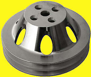 Big Block Chevy Bbc Aluminum Pulley Short Water Pump Double 2 Groove