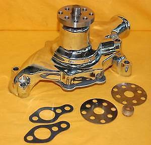 Sbc Small Block Chevy Short Water Pump Chrome High Volume