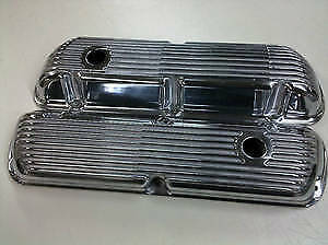 Sbf Ford 289 302 351w Finned Aluminum Valve Covers 11537