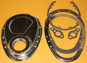 2 Piece 2pc Chrome Sbc Timing Chain Cover Small Block Chevy