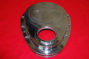 Sbc Chevy Polished Aluminum Timing Chain Cover