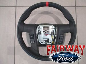 11 Thru 14 F 150 Oem Ford Leather Red Accent Steering Wheel W Switches Raptor
