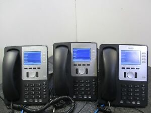 Lot Of 3 Snom 821 Voip Business Phones W Handsets T7 b6