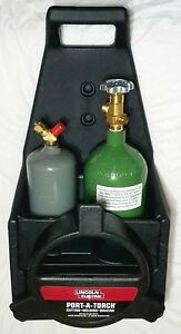 Lincoln Electric Oxygen Acetylene Cylinders Carrier Cutting Welding Torch Set