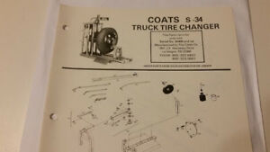 Used Coats S 34 Truck Tire Changer Parts List