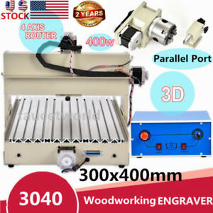400w 4axis Cnc Router Engraver 3040 Engraving Milling Drill Machine Woodworking