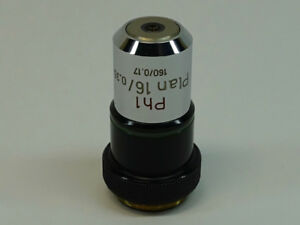 Zeiss Ph1 Plan 16x 0 35 160 0 17 Phase Microscope Objective Excellent Condition