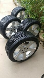 Like New Authentic Mercedes Benz Oem Cls Wheels rims With Continental Tires