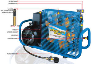 Scuba Or Paintball Compressor With Auto Drains