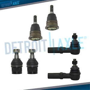 Ball Joints Outer Tierods For 2006 2007 2008 2011 Ram 1500 2500 3500 Rwd 8lug