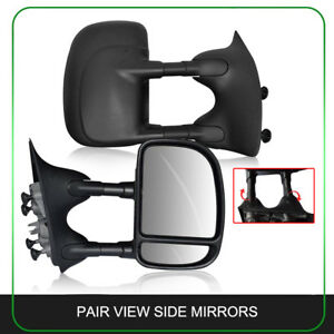 Pair Fit 1999 2007 Ford F250 f550 Tow Driver Manual Extension Side View Mirrors
