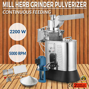 Automatic Continuous Herb Grinder Mill Pulverizer Df 40s 2200 W Durable 110v