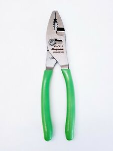 Snap On Slip Joint 3 Position Combination Pliers With Green Handle 47acf New