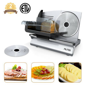 7 5 Commercial Home Electric Meat Slicer 2 blade Bread Deli Cutter Food Machine
