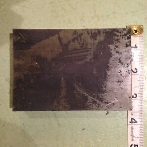 Printing Letterpress Printers Block bridge To Mine Printers Cut Medium