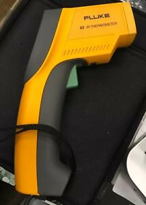 Fluke 63 Infrared Ir Thermometer Used Temp Temperature Reader Works